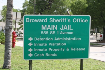 What happens to a defendant when they are arrested in Broward County